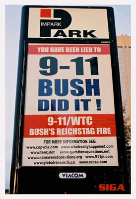 Bush Did It - sign in Canada