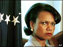 Condoleezza Rice - NOT SMILING ANYMORE!