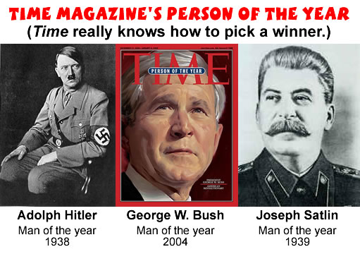 Bush, Hitler, and Stalin: Time Magazine Person of the Year