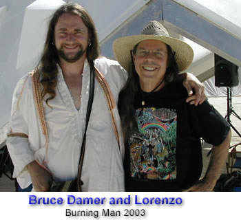 Bruce Damer and Lorenzo Hagerty at Burning Man