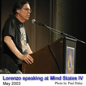 Lorenzo Hagerty speaking at Mind States IV