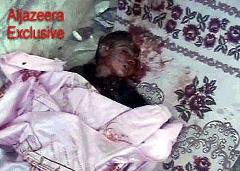 Dead Iraqi child