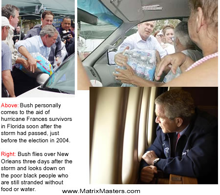 George Bush doesn't care about black people.