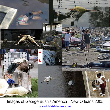 George Bush's America - Bodies floating in New Orleans 2005