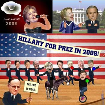 Hillary can't wait till 2008