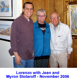Lorenzo with Jean and Myron Stolaroff - November 2006