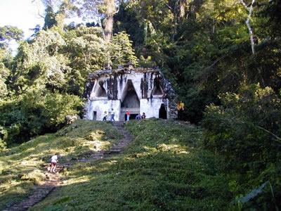 House of the smoking god - Mayan ruins at Palenque, Mexico