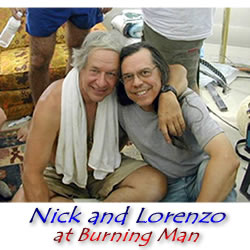 Nick Sand and Lorenzo at Burning Man