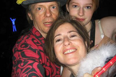 Alex, Allyson, and Zena Grey at Burning Man 2003