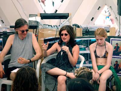 Allyson Grey speaking at Burning Man 2003