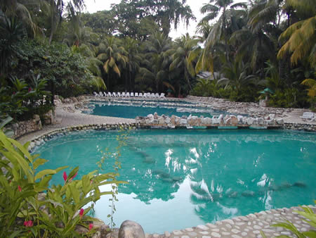The pool at the Chan Kah Hotel near the ruins at Palenque