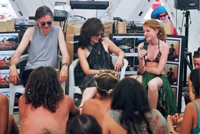 Zena Grey speaking at Burning Man 2003