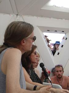 Alex, Allyson, & Zena Grey - Burning Man 2003