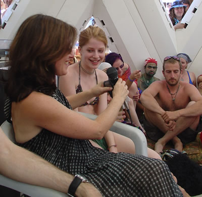Allyson & Zena Grey at Palenque Norte - Burning Man 2003