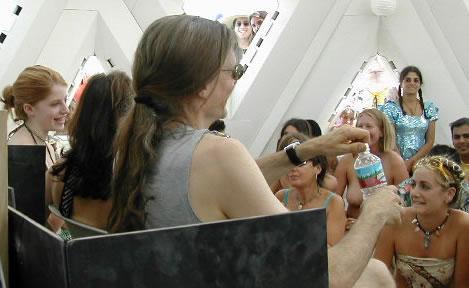 Zena, Allyson, & Alex Grey - Burning Man 2003