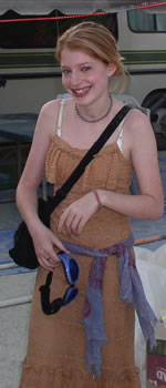 Zena Grey at Burning Man 2003